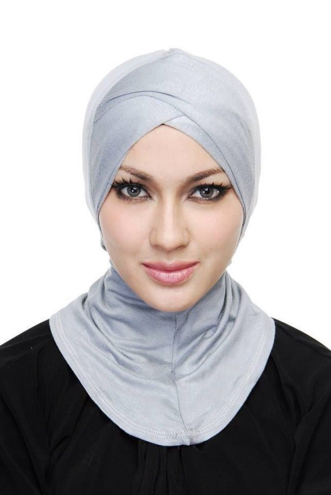 f6535ef0541 Women Hijab Cap Bonnet Full Cover Cotton Inner Under Scarf