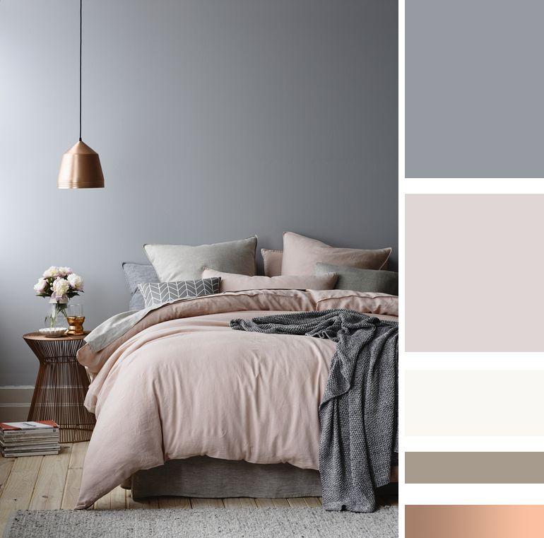 Camera da letto: le mie ispirazioni | Blue grey, Pink blue and Cameras