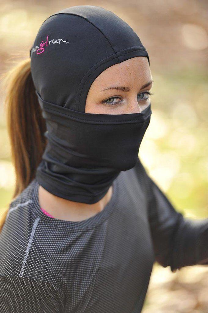 Balaclava by Run Girl Run - Running hat with ponytail hole fcfab5e1f