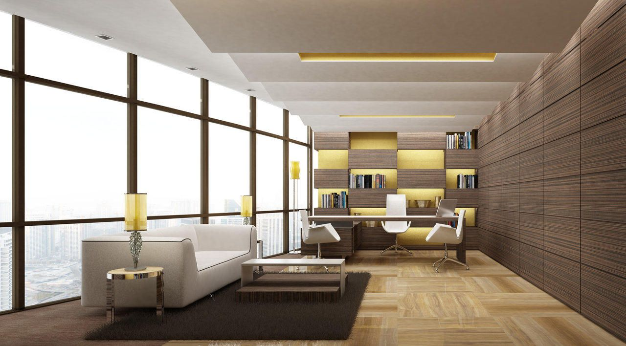 Modern executive office layouts design google search for Contemporary office interior design