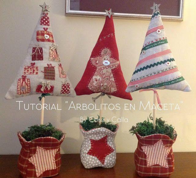 Resultado de imagen para pinterest manualidades patchwork - Arboles de navidad de tela ...