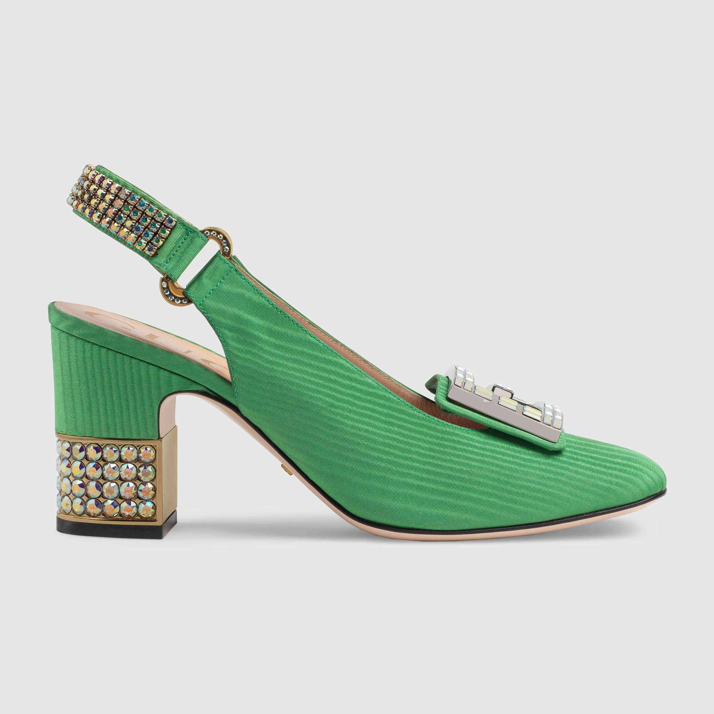 Moiré mid heel pump with crystal G G G zapato Obsession Pinterest eb22fc