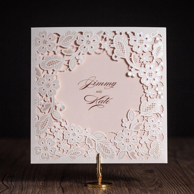 Laser Cut Wedding Invitations Cards