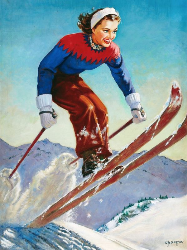 Skiing Lends Itself To So Much Snobbery Read About It In Skiing On Hot Air My Latest Column Vintage Ski Vintage Ski Posters Ski Posters
