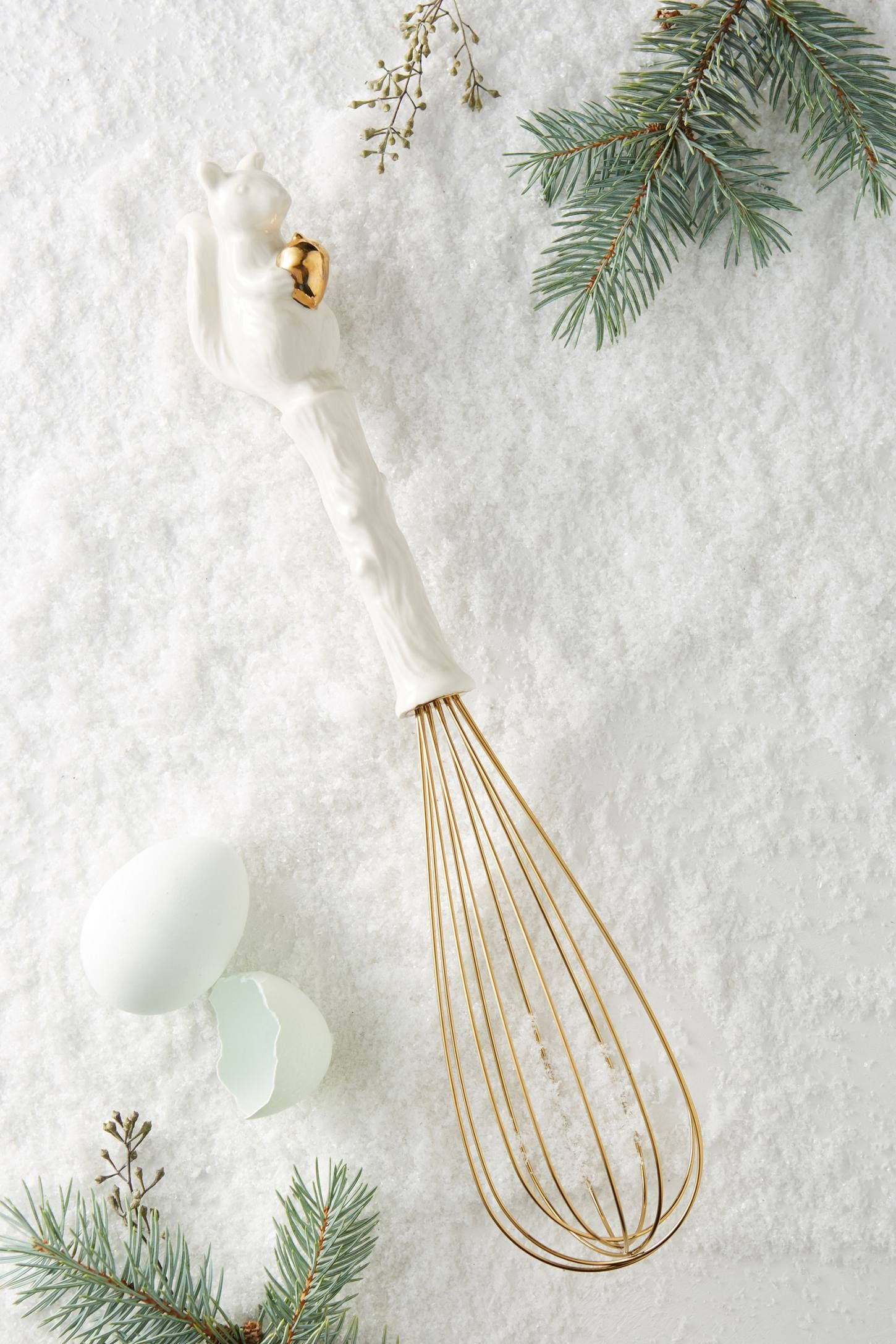 Ceramic Squirrel Whisk | Kitchenware