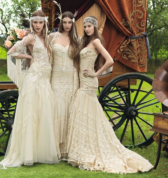 Gypsy Wedding Dress..love the one on the right | wedding ideas ...