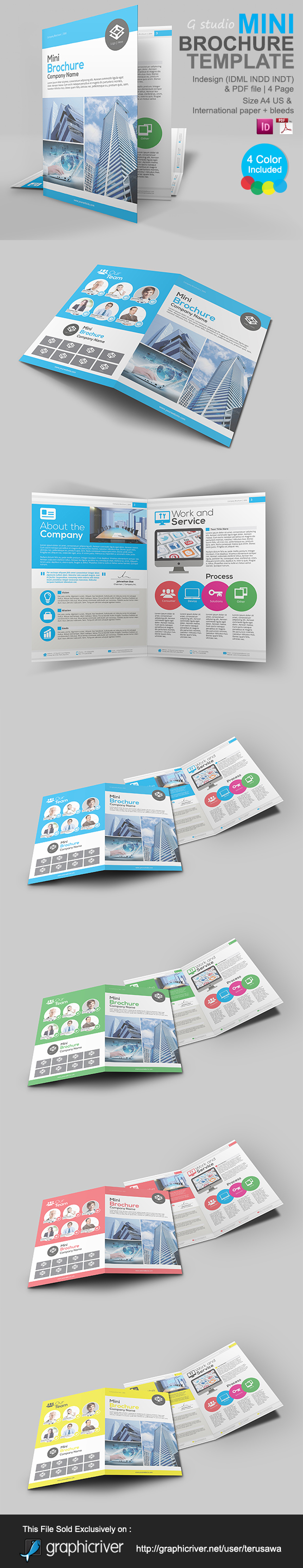 Gstudio Mini Brochure Template By Terusawa G Studio Via Behance - Mini brochure template