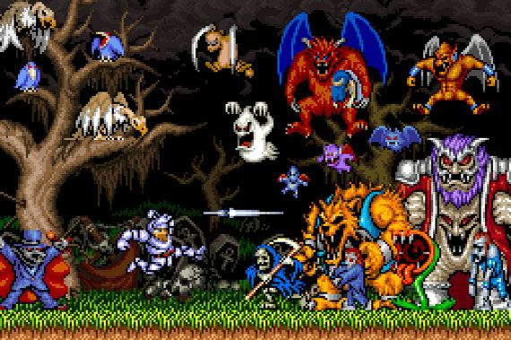 b4f9758e5eb Ghouls  n Ghosts Monsters Poster