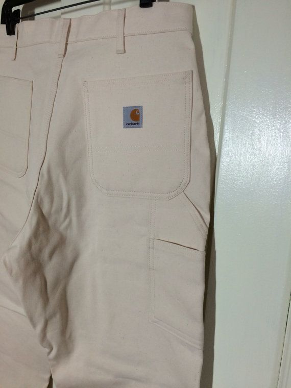 d71e4a1c248 deadstock vintage Carhartt Carpenter Work Painter's Pants white ...