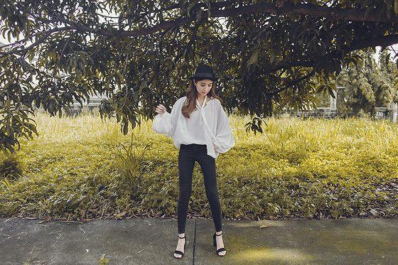 Get this look: http://lb.nu/look/7779578  More looks by Tricia Gosingtian: http://lb.nu/tgosingtian  Items in this look:  Mango Top, Mango Pants   #casual #classic #edgy