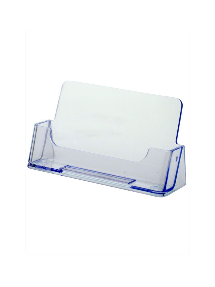 Ridged Clear Acrylic Business Card Holder Ebay Card Holder Desk Business Card Holder Display Clear Business Cards