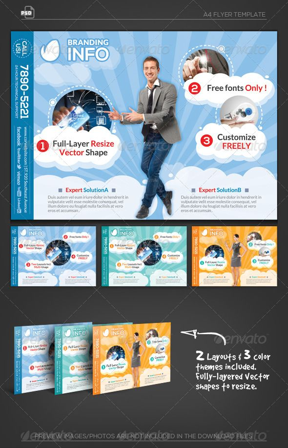 cloud info flyer template graphicriver cloud info a4 flyer