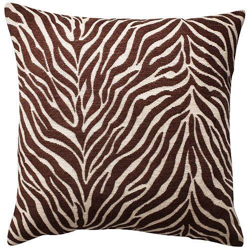 Admirable Hometrends Chocolate Zebra Decorative Pillow Brown Uwap Interior Chair Design Uwaporg
