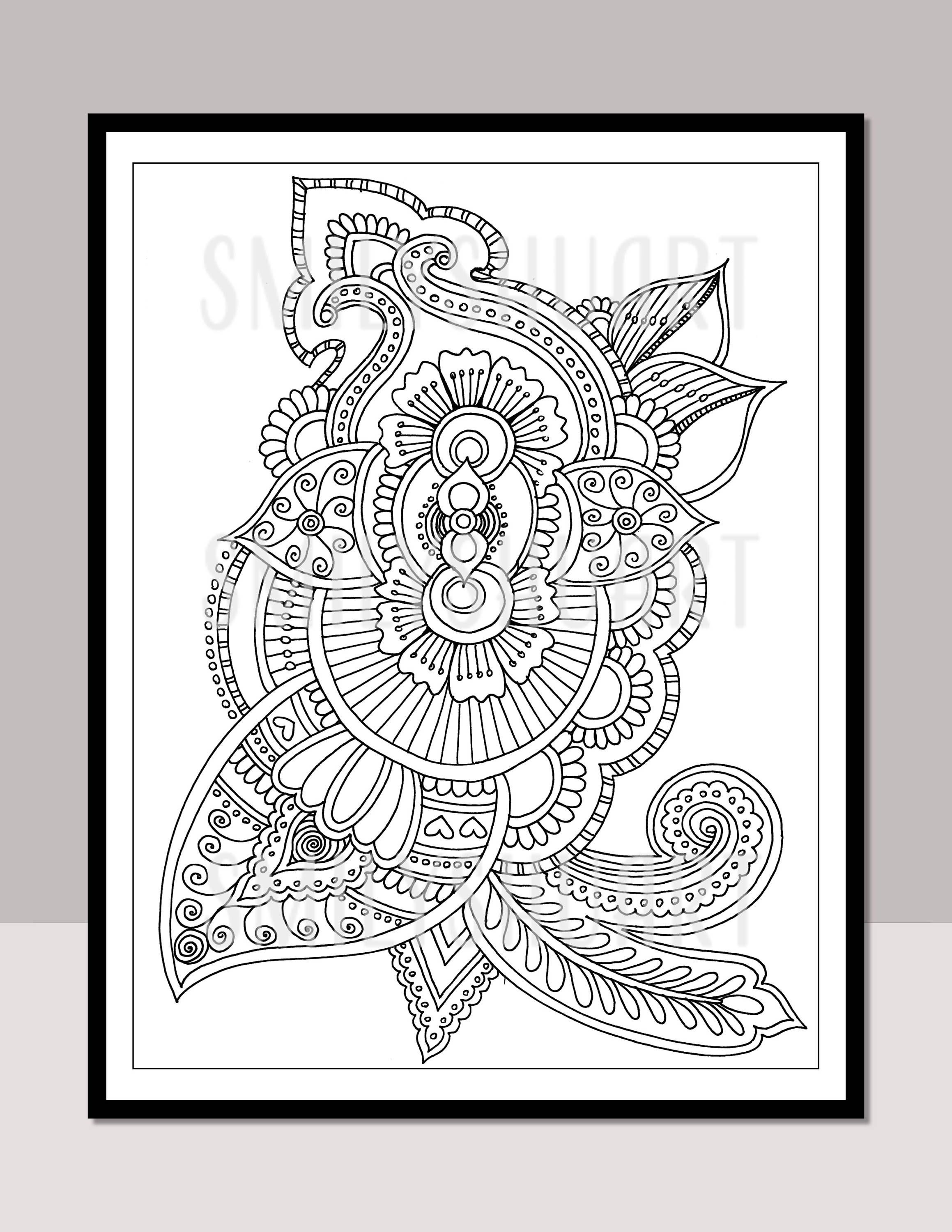 A5 Printable Coloring Cards Gift Tags Greetings