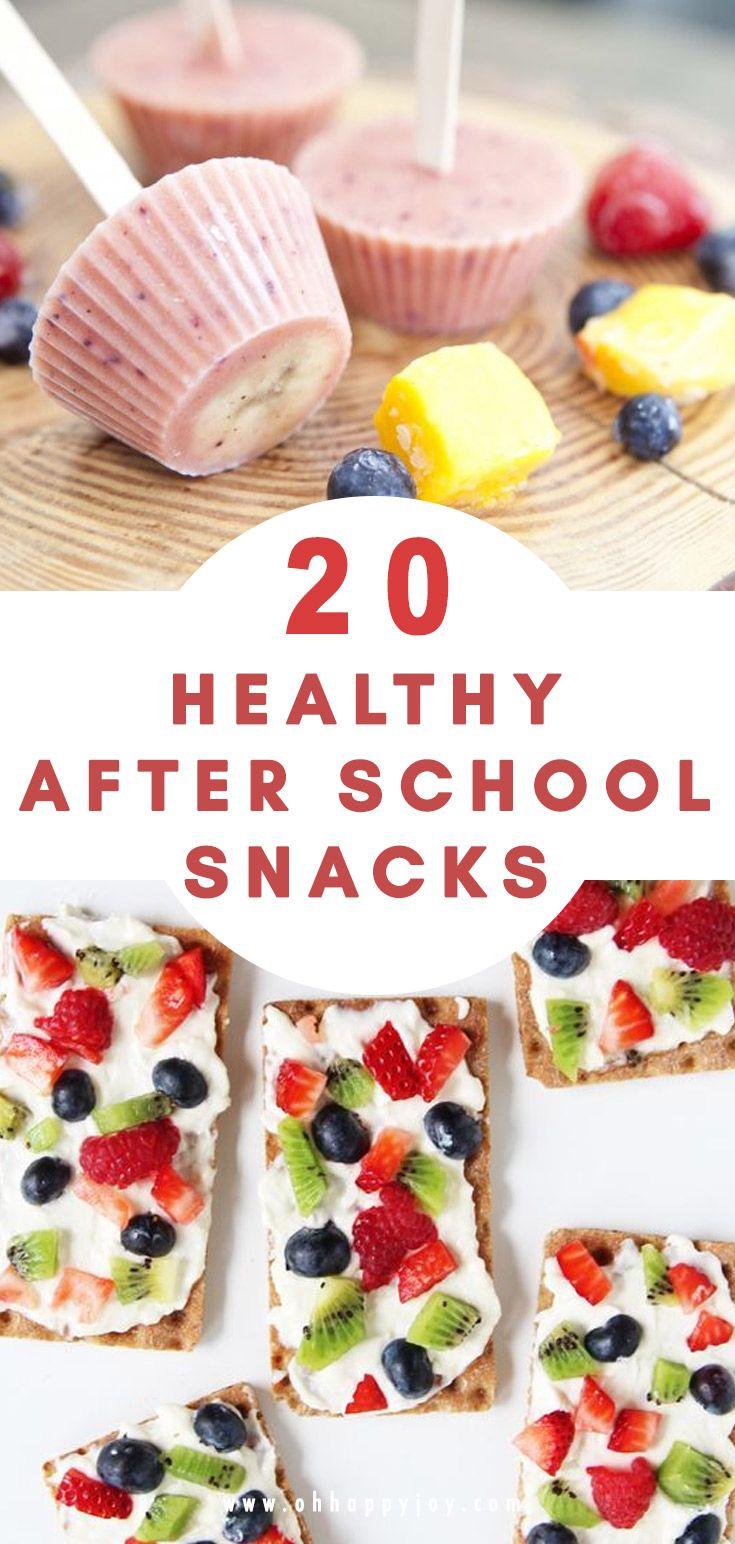 20 Healthy After School Snack Ideas For Kids #schoollunchideasforkids