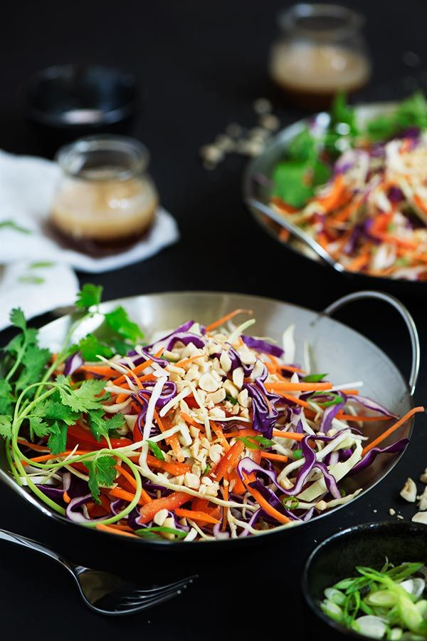 recipe and peanut slaw and Asian and