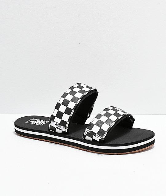 Vans Cayucas Checkerboard 2 Strap Slide