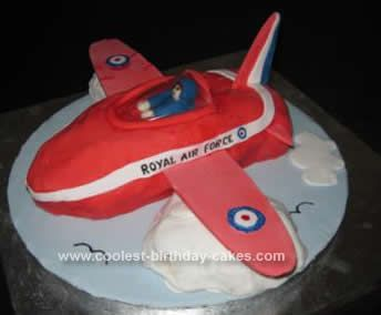 Coolest Red Arrow Plane Cake Planes cake Sponge cake recipes and