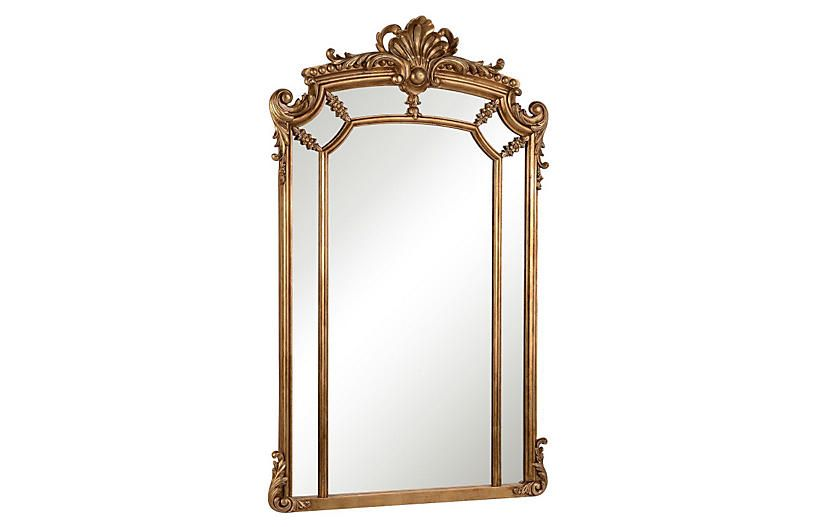 One Kings Lane Ingrid 30 X48 Oversize Mirror Gold