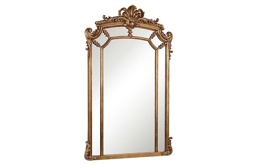 30 x 48 mirror beveled one kings lane ingrid 30 x48 oversize mirror gold oversized