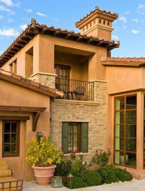 Fachada rustica ideal para ambientes c lidos mim tica con el ambiente y la vegetaci n al ser - Material para fachadas exteriores ...