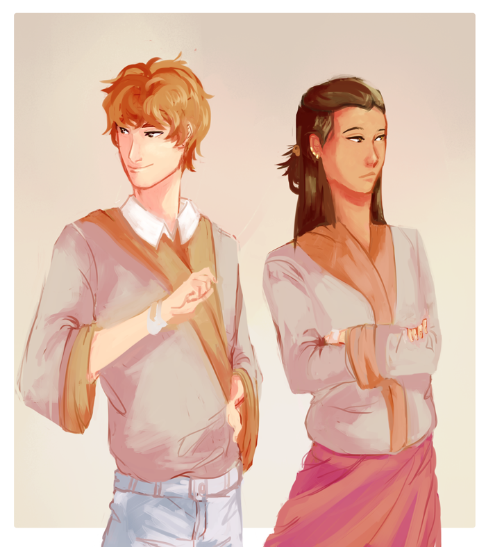 Alex and Kimiya by http://seoday.tumblr.com