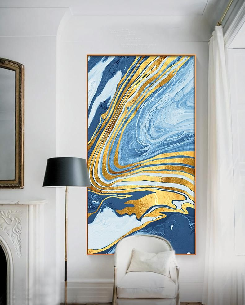 Abstract Golden Blue Marble Wall Art Nordic Style Fine Art Canvas Prints Nordicwallart Com Poster Wall Art Canvas Wall Art Golden Painting