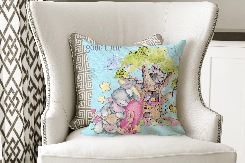 Lewie Throw Pillow Accent Pillow Kids Room Decor Kids Pillow