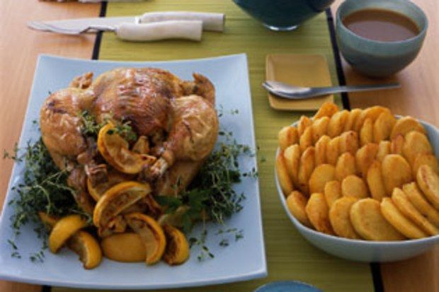 Photo of Roast Capon with Lemon and Thyme