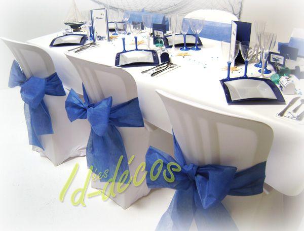 dcoration table de mariage dcorations pour mariage bleu marine et nacre
