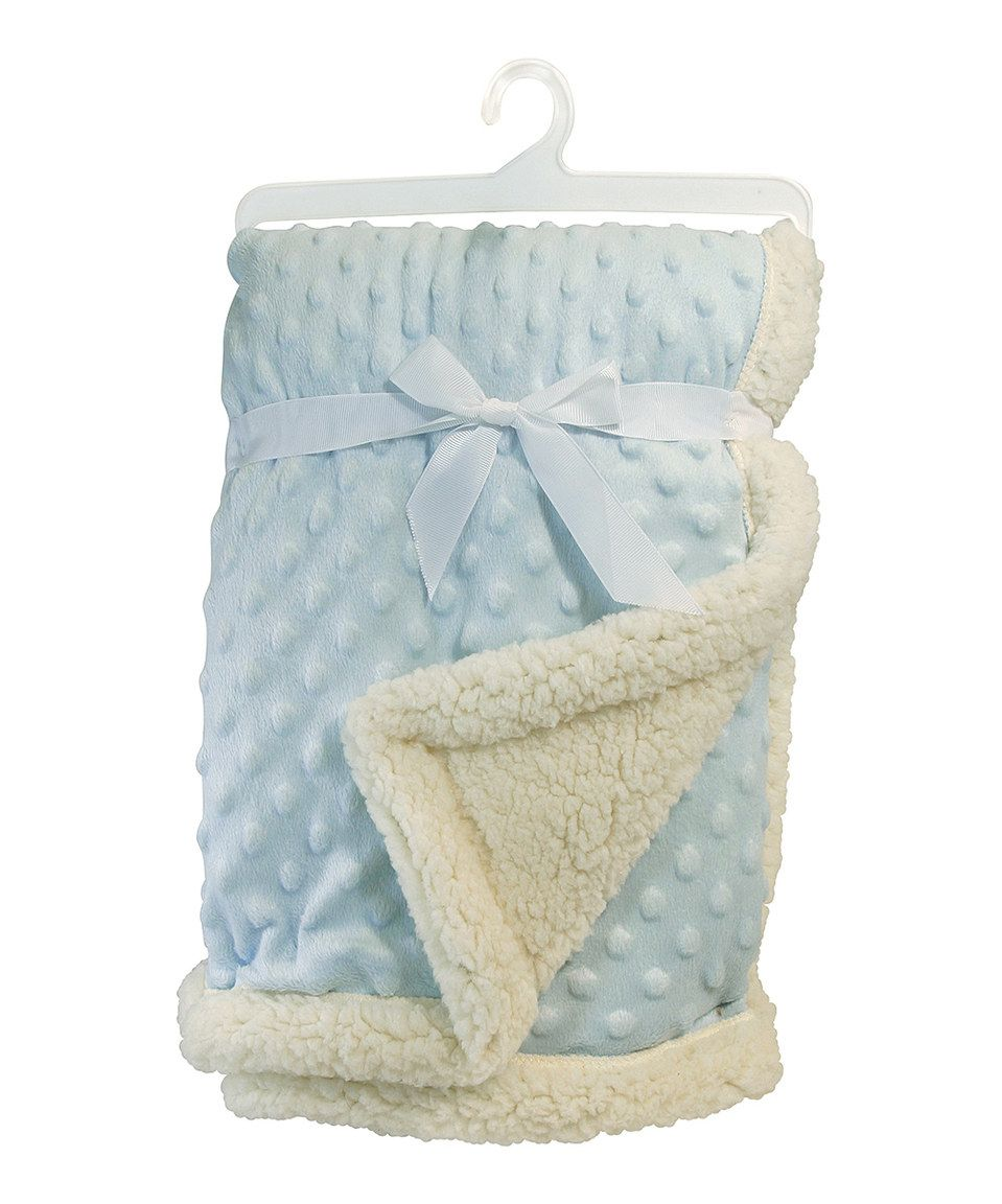 Another great find on #zulily! 30'' x 40'' Blue Bumpy Sherpa Blanket by Stephan Baby #zulilyfinds