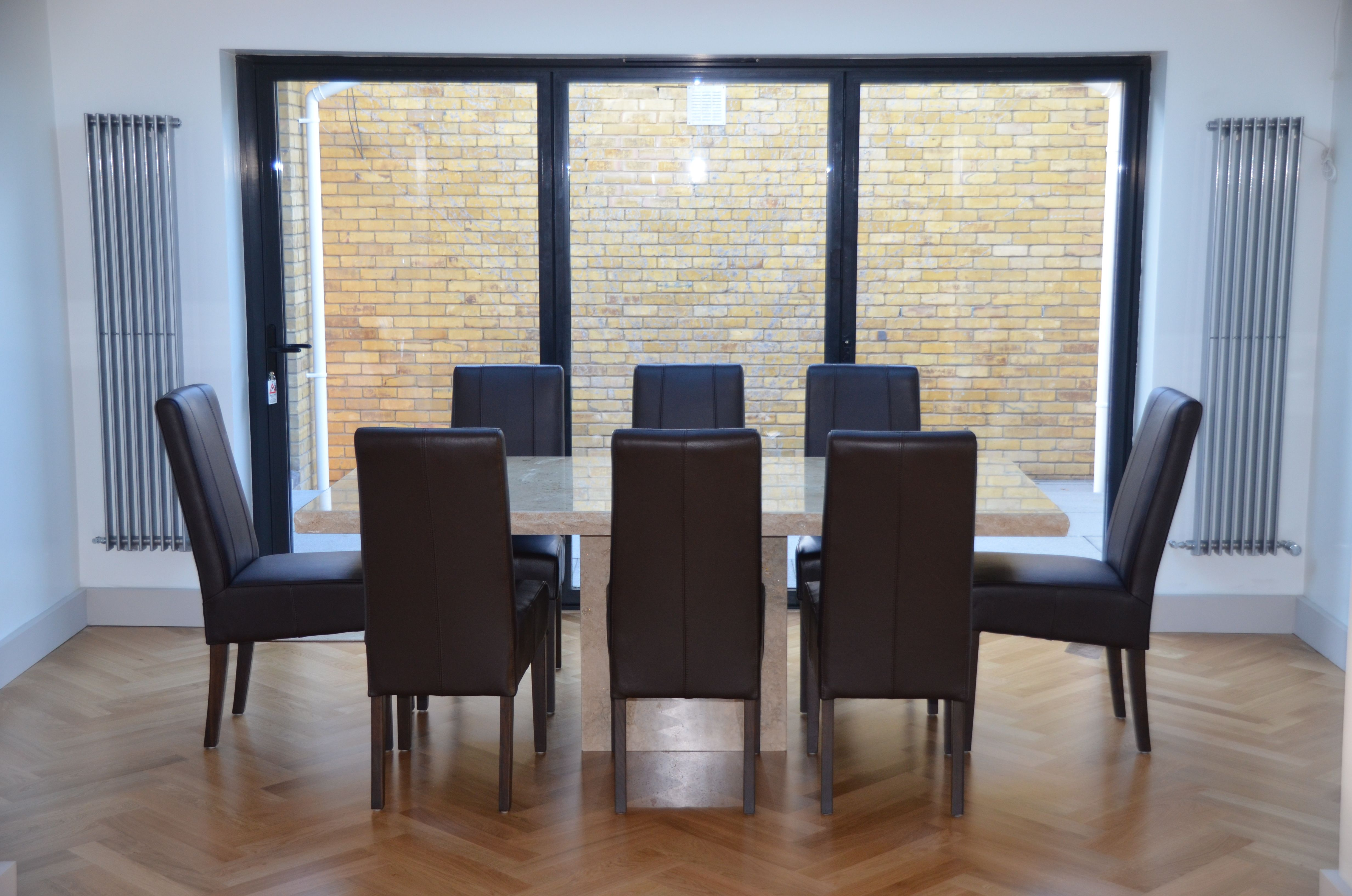 This Dining Room Extension In Cuffley Has A French Oak Floor Bisque Radiators 5