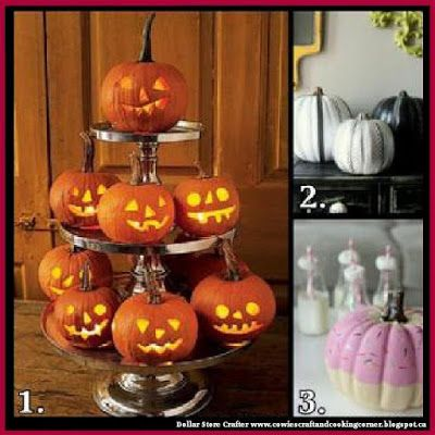 Dollar Store Crafter: 3 Ways To Decorate Your Halloween Pumpkins