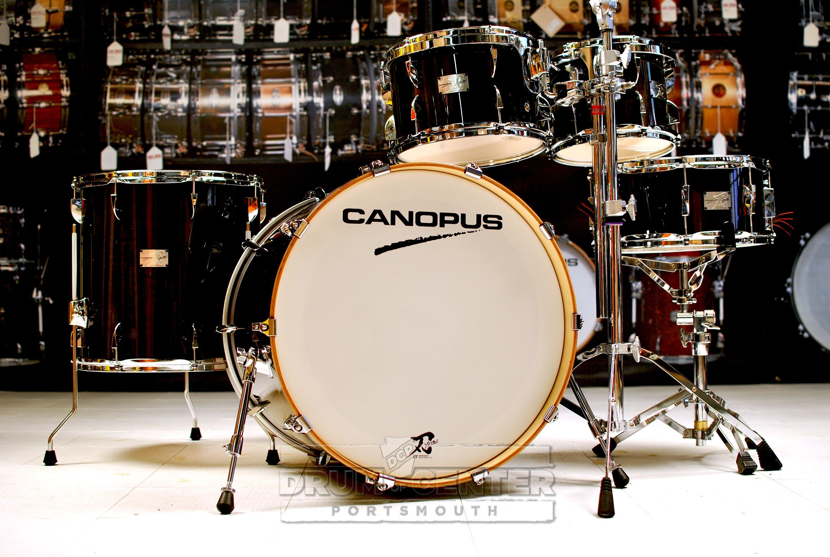 "Canopus Yaiba 5pc Groove Drum Set Ebony Lacquer  The NEW YAIBA models have inherited the great Canopus sound and have also specialized and refined the concept of the original YAIBA - but they sit in a much more affordable price range. This is a ""dream come true"" for those drummers who have always wanted to easily have the Canopus sound. Purchase Here: http://www.drumcenternh.com/canopus-yaiba-5pc-groove-drum-set-ebony-lacquer.html"