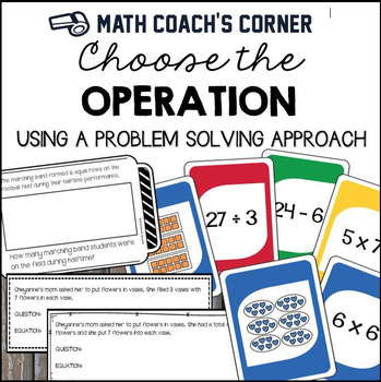 Choose The Operation Using A Problem Solving Approach Solving