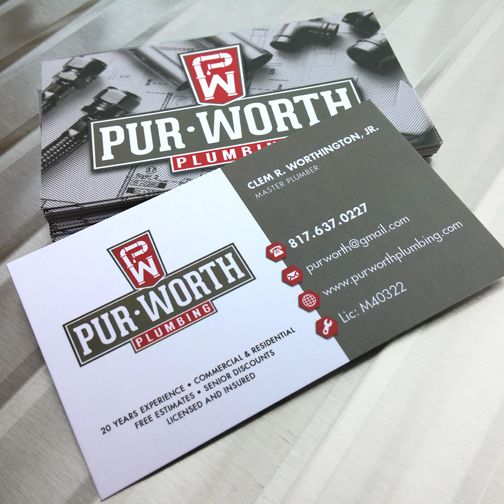 Purworth plumbing logo business cards designed by creative purworth plumbing logo business cards designed by creative madhouse colourmoves Image collections
