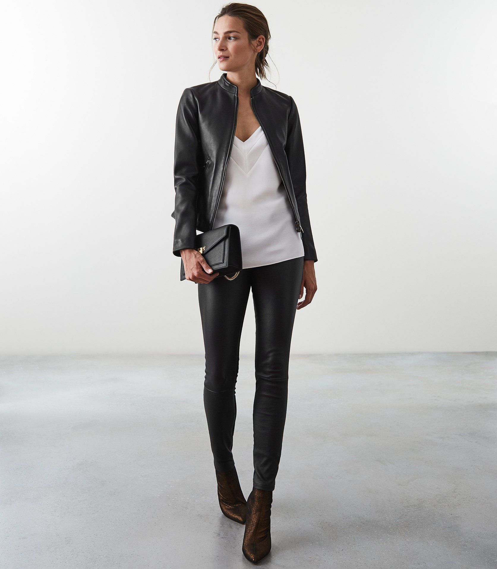 Aries Leather Jacket Reiss Leather Jackets Women Leather Jacket Outfits Jacket Outfits [ 1918 x 1673 Pixel ]