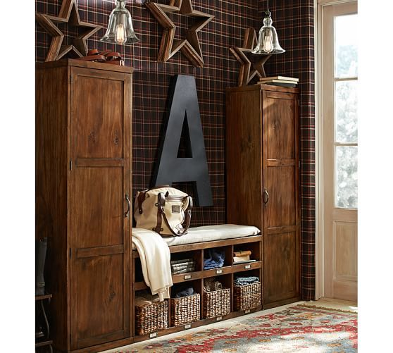 Olivia 3 Piece Locker Tower Amp Bench Set Hanging Letters