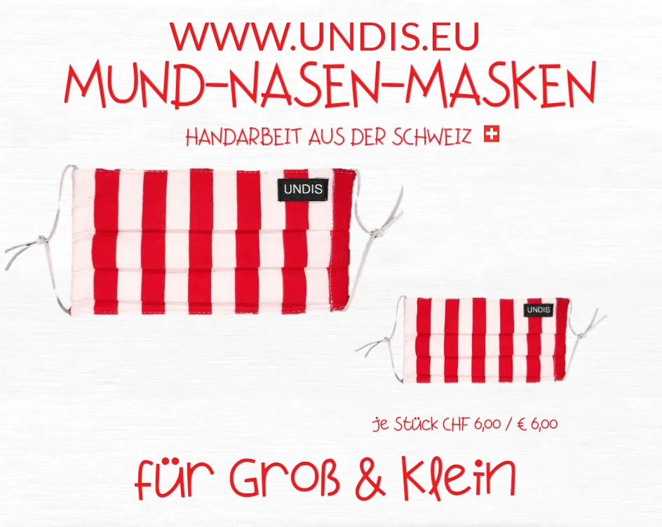 UNDIS www.undis.eu MUND-NASEN-MASKEN für GROSS und KLEIN! Handarbeit aus