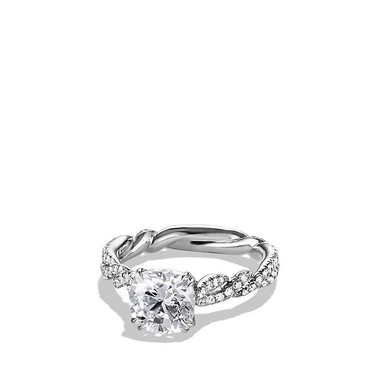 dy wisteria engagement ring in platinum perfection - David Yurman Wedding Rings