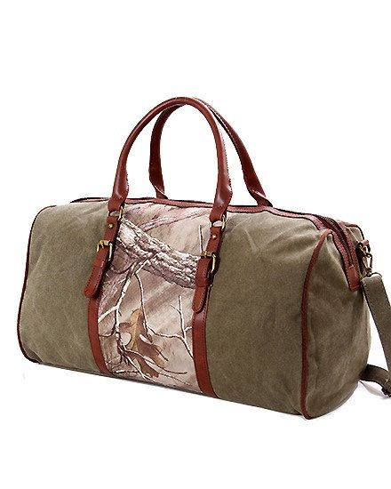 Personalized Camouflage Duffle Bag Realtree Print By Milliesgifts Travel Bags Ideas