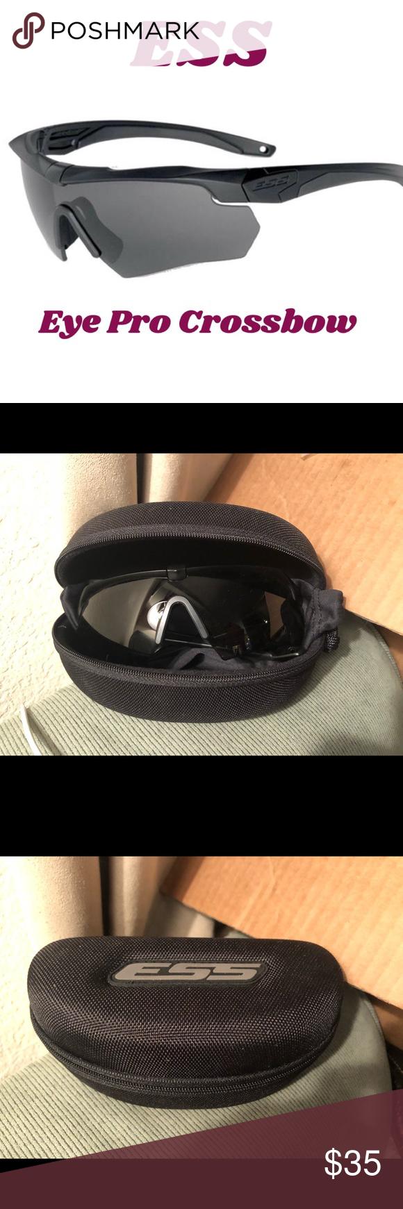 NWOT ESS Crossbow Pro Sunglasses/Safety Smoke gray Smoke