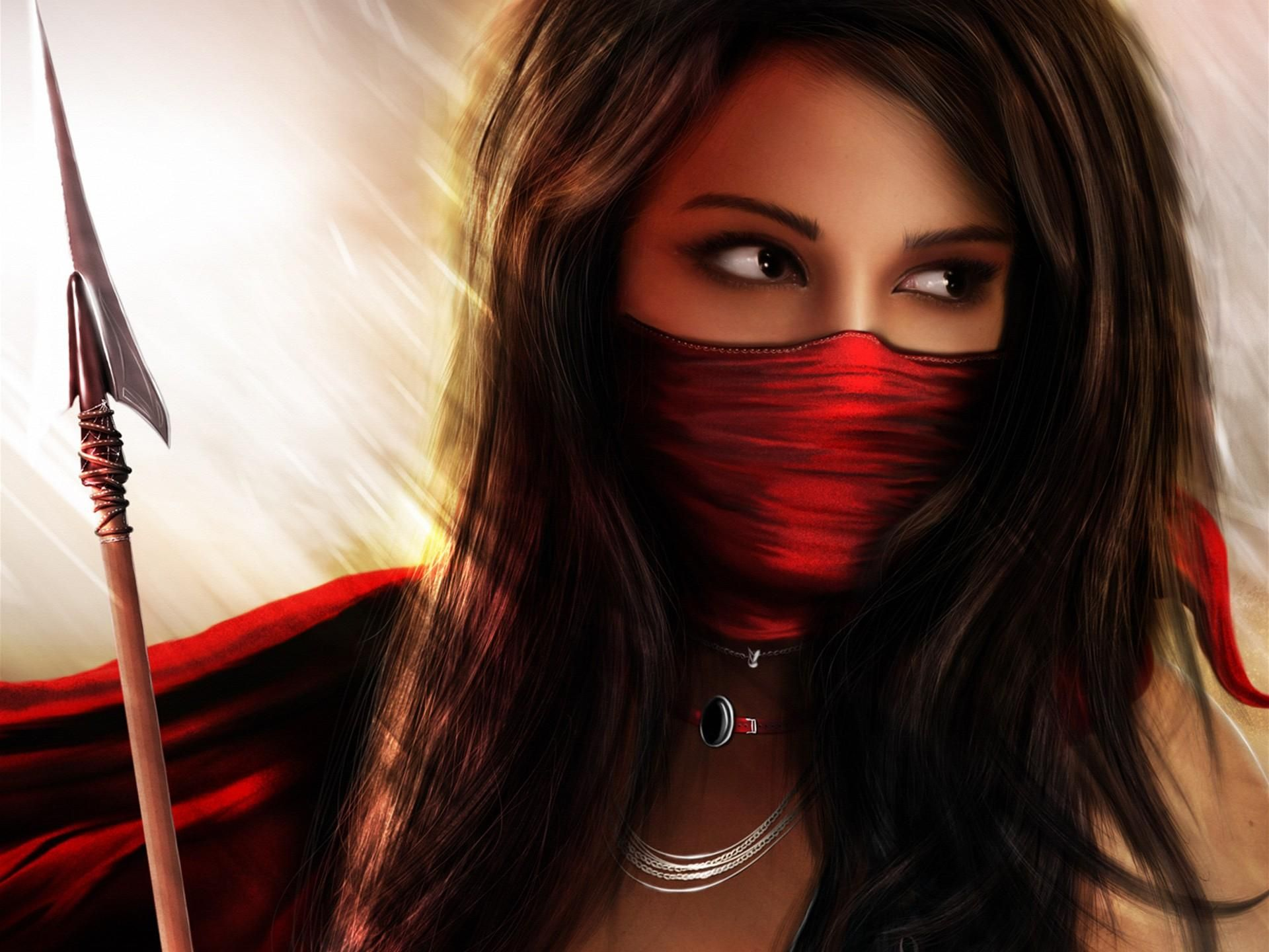 Download Hd Wallpapers Of Beautiful Amazon Warrior Girl Free Download High Quality And Widescreen Resolutions Deskt Ninja Girl Warriors Wallpaper Fantasy Girl