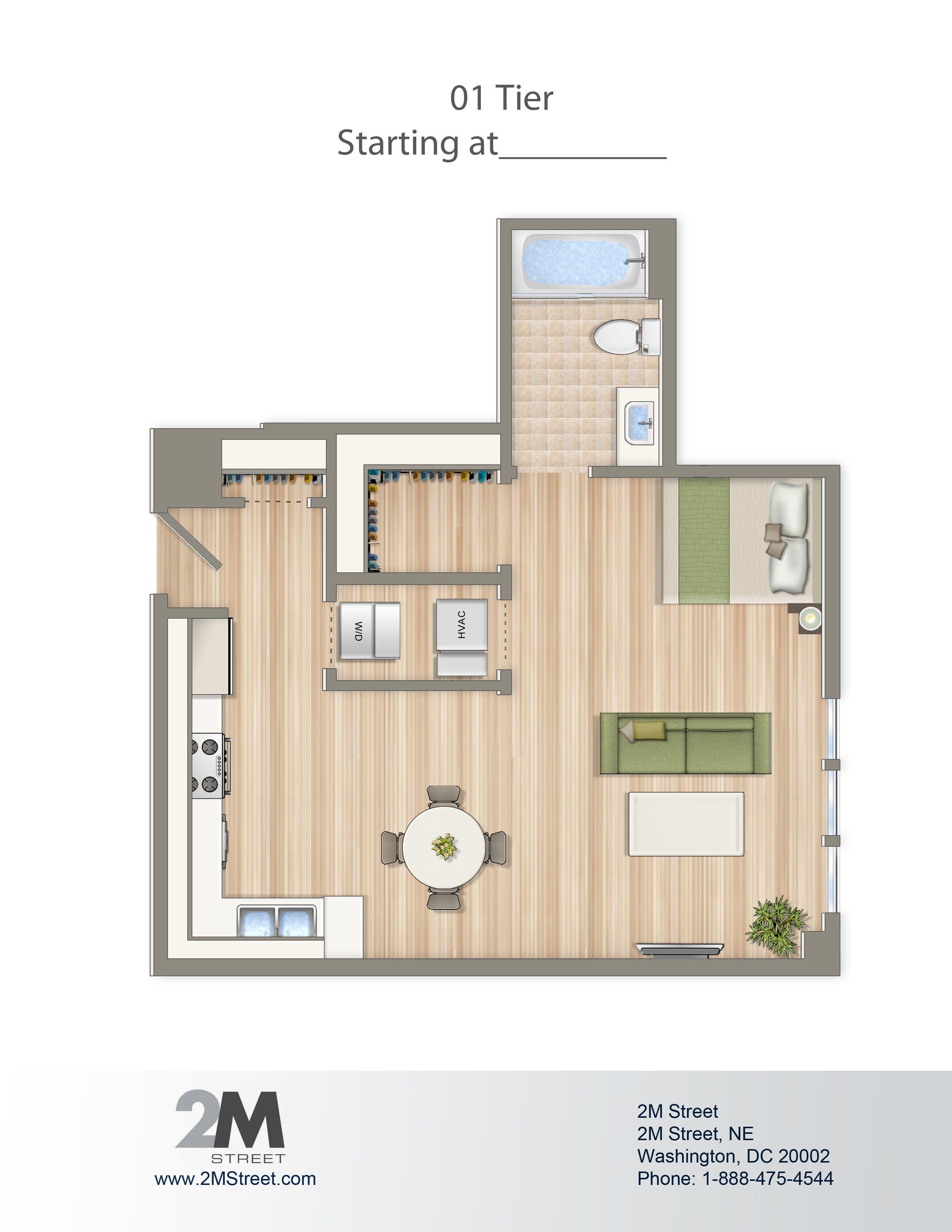 Efficiencystudio Floor Plan - 2M Street In Northeast Washington Dc