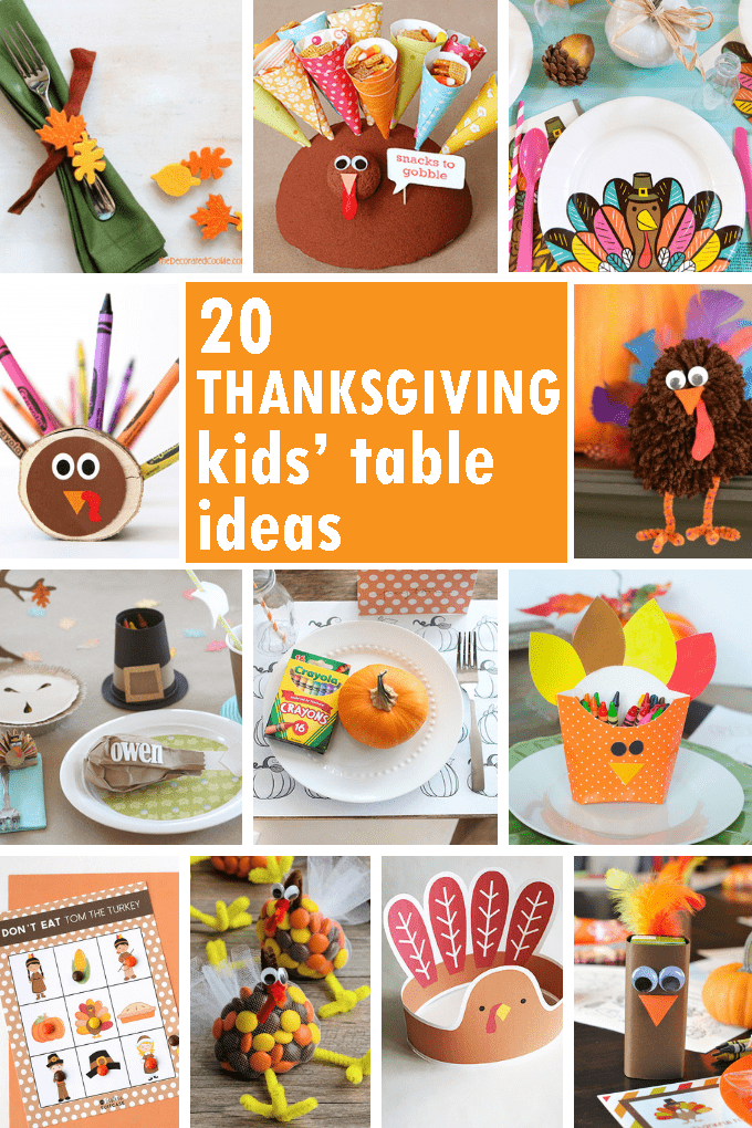 20 THANKSGIVING KIDS\u0027 TABLE IDEAS Fun DIY Thanksgiving