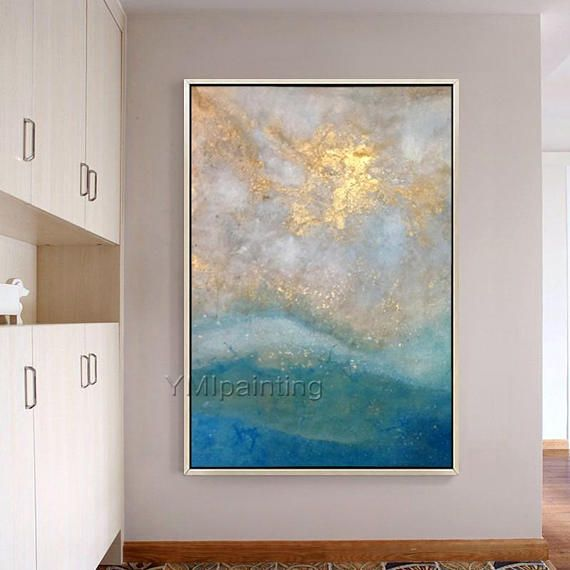 Abstract acrylic painting on canvas Original Seascape oil Painting ...