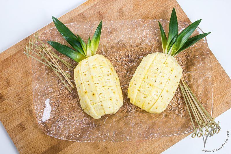 Come Servire L Ananas A Tavola.Come Presentare L Ananas Visualfood Frutta In Tavola Frutta