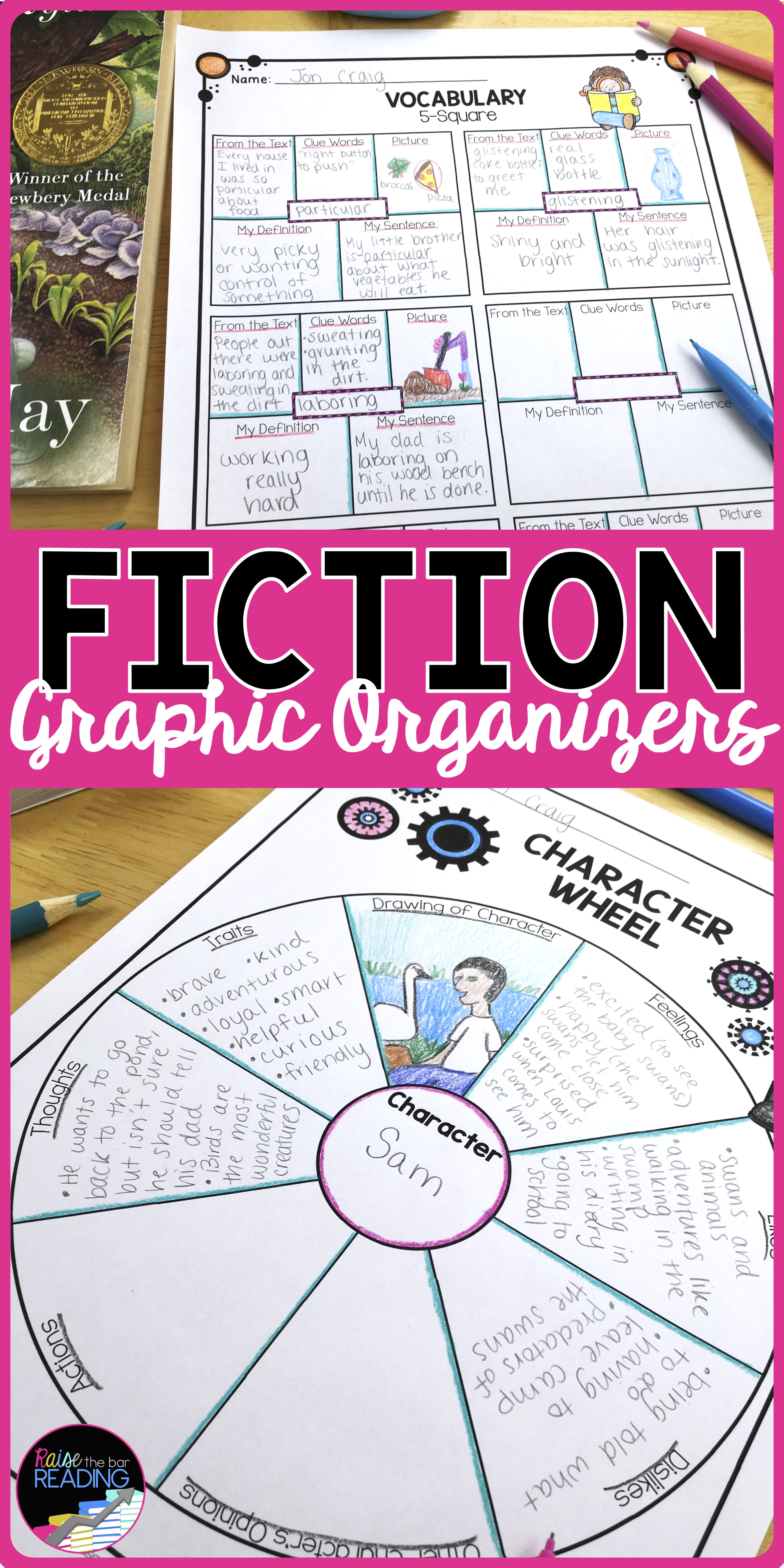 Tons Of Fiction Graphic Organizers Perfect For Guided