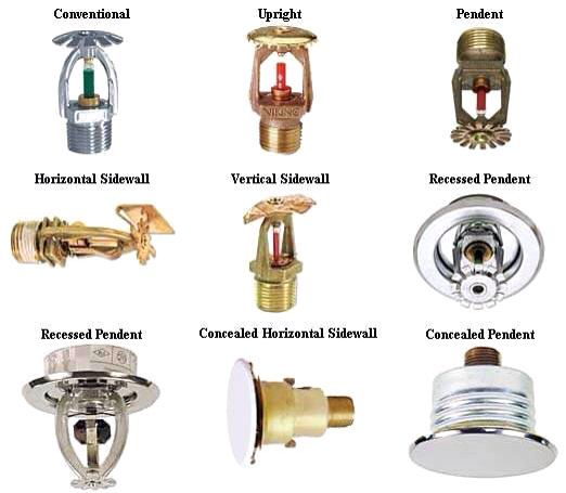 Types Of Sprinkler Heads A Good Review For All Firefighters