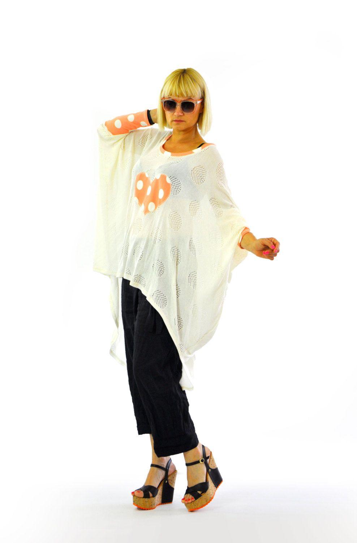 Loose knitted tunic Casual maxi tunic Handmade summer long top White maxi  oversized kaftan Woman oversized kaftan Maxi shirt knitted Gabyga by  Gabygaclothes ... 07fa28f01ae